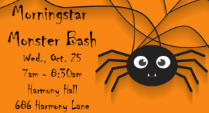 Oct. 25 Morningstar Monster Mash